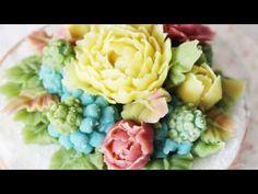앙금플라워 무스카리 grape hyacinth&작약 Peony - YouTube