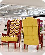 Funky wing backed chairs