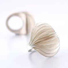 "Marisanna Multamaa, ""Lumo"" (Charm) ring, in sterling silver with acidified surface. | Design Marisanna Multamaa"