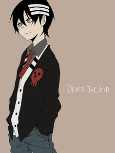 Death The Kid - Soul Eater...Nice illustration, but he could never wear it, because his OCD (he needs everything to be symetrical) would drive him over the bend about the red death's head on one side only.lol