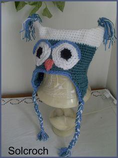 beau patron bonnet hibou crochet gratuit