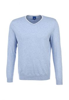 Пуловер Tom Farr мужской. Цвет: голубой. Сезон: Весна-лето 2014. С бесплатной доставкой и примеркой на Lamoda. http://j.mp/1nBLDz3