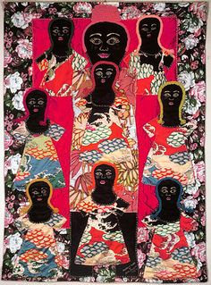 Mother's Quilt, Faith Ringgold, 1983, Acrylic on canvas, dyed, painted and pieced fabric, 58 x 43.5 inches