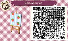 Strawberry wallpaper animal crossing HHD qr code