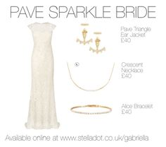 Gold Lace Bride by gabrielladriver on Polyvore featuring Stella & Dot, Phase Eight, women's clothing, women's fashion, women, female, woman, misses and juniors