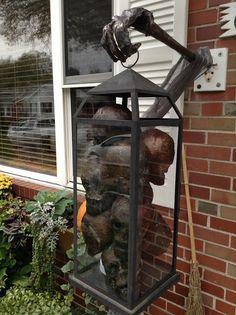 Skull lantern for Halloween