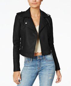 3a96bbedd3b6 American Rag Juniors  Faux-Leather Moto Jacket