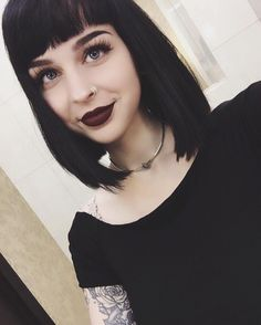 I finally made up my mind and this hair is making a comeback and it's gonna be sooner than later ‍♀️ What's the one thing you're always indecisive about? I can't deal with hair choices and pizza toppings Beauty Makeup, Hair Makeup, Hair Beauty, Goth Beauty, Dark Hair, Blue Hair, Hair Inspo, Hair Inspiration, Mia Wallace