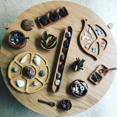 Loose Parts and Trays Trays, Store, Wood, Woodwind Instrument, Storage, Timber Wood, Tray, Wood Planks, Business