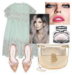 """Mint"" by melady0202 on Polyvore featuring мода, Chloé, Oscar de la Renta, Maybelline и Gucci"