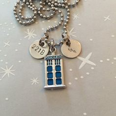 The Discreet Fandom Necklace - Doctor Who, Sherlock, Harry Potter, 221B, Lightning Bolt, Multi Fandom