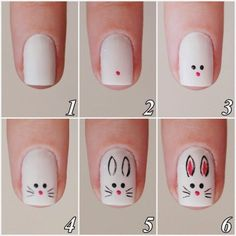 How To Make Cute Bunny Nail Art