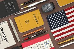 Browse our collection of authentically American products, made right here in the USA! Stationery Companies, Stationery Pens, High Quality Pens, Jet Pens, Field Notes, Painting Tools, Made In America, Room Paint, Rustic Style