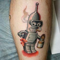Futurama, bender tattoo