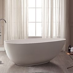 Enjoy a soak in this Avanity Gaia ABT1512-GL Acrylic Freestanding Bath Tub. This fashionable oval tub has a freestanding design for simple installation. It has a deep design made for your immersion comfort to relax away the cares of the day.