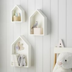 Classic House Shelves - Set of 3 | Children's Furniture | Furniture | Home | The White Company UK