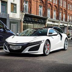 """6,795 Likes, 56 Comments - SupercarsofLondon (@supercarsoflondon) on Instagram: """"What do we think on this? Supercar or not? Pic by @jonathanc.photography #white #honda #nsx #uk…"""""""
