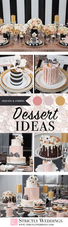 The use of individual mini cakes adorned in black stripes and iced in pink sugary deliciousness makes this styled shoot one to gush over.