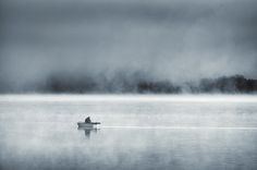 """""""Night and day in the fog"""" by Mikko Lagerstedt, via Behance"""