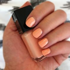 finally found the perfect peach for summer - illamasqua purity. Peach Nail Polish, Peach Nails, Mani Pedi, Manicure And Pedicure, Hair And Nails, My Nails, Perfect Peach, Just Peachy, Nail Decorations
