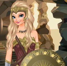 Elsa Wonder Woman: Elsa vai participar de uma festa temática de super-heróis. Ela decidiu ir fantasiada de sua personagem favorita, Mulher Maravilha! Mas ela precisa de sua ajuda para se preparar. Há tantas opções de maquiagem, roupa e acessórios para escolher! Divirta-se vestindo a rainha do gelo.