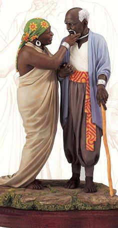 Devoted Love -Thomas Blackshear Molding making and casting, from clay to bronze. African American Figurines, African American Art, African Art, African Love, Thomas Blackshear, Black Figurines, Black Art Pictures, Black Angels, Black Artwork