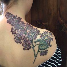 M Tattoos, Body Art Tattoos, Sleeve Tattoos, Cool Tattoos, Floral Thigh Tattoos, Flower Tattoos, Lilac Tattoo, Mark Tattoo, Tattoo Photography