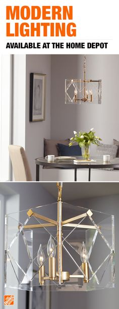 Add a modern touch to any room with the Fifth and Main Lighting Pentos, a three-light aged brass pendant inspired by Hollywood Regency style. With contemporary appeal, this pendant mixes timely and timeless styles for an ultra-glamorous look. Tap to shop modern light fixtures at The Home Depot.