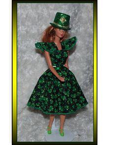 Barbie Shamrock Celebration Happy St Patrick/'s day DRESS /& Apron