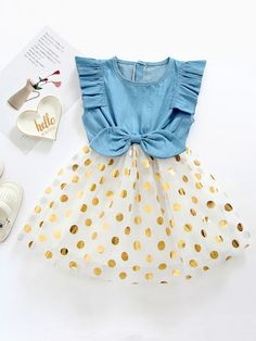To find out about the Toddler Girls Polka Dot Bow Front Tutu Dress at SHEIN, part of our latest Toddler Girl Dresses ready to shop online today! Little Girl Outfits, Kids Outfits Girls, Toddler Girl Outfits, Toddler Girl Dresses, Girls Dresses, Toddler Girls, Dresses For Toddlers, Baby Girl Fashion, Fashion Kids