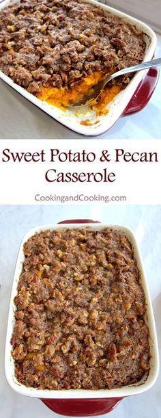 Sweet Potato Casserole with Pecan Recipe
