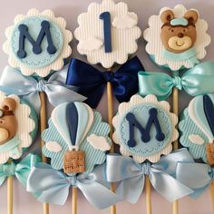 Baby Shower Balloons, Baby Shower Cakes, Baby Shower Themes, Teddy Bear Baby Shower, Baby Boy Shower, 1st Birthday Decorations, Balloon Decorations, Baby Boy Birthday, First Birthday Cakes