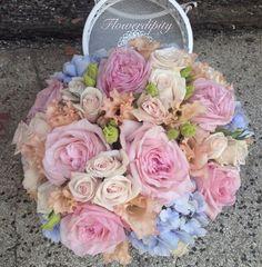 #wedding #flowers #design #pastel #pink #peach #blue #table #decoration #flowerdipity #event Pastel Pink, Wedding Flowers, Peach, Events, Elegant, Decoration, Rose, Table, Design