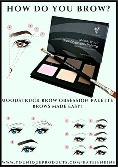 How do you brow? Younique's Brow Obsession Palette & Brow Artist Brush make it easy