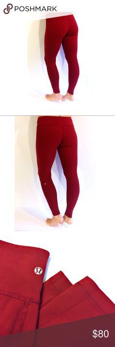 Lululeon Wunder Unders Size 8, Red Like new, reversible, and stunning. lululemon athletica Pants Leggings