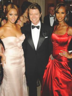 Beyonce, David Bowie and his wife Iman.