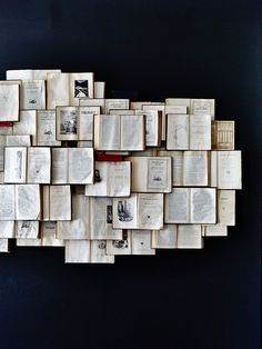 What to do with old books? You can use them as wall decor. Here you can find many creative DIY wall art projects with used books. An amazin home decor idea. Book Wall, Open Book, Old Books, Vintage Books, Vintage Wall Art, I Love Books, Ravenclaw, Fasion, Book Worms