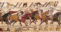 Bayeux Tapestry depicting the Battle of Hastings 1066