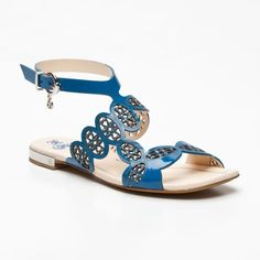 Patent Leather Sandals in Teal (EU_FABI1 1070125)