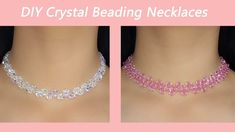 Easy Crystal Beading Necklaces Tutorial / How to Make Elegant Crystal Be...