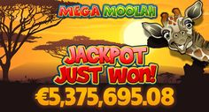"K.E. won $5 million on Mega Moolah slot, AT BLACKJACK BALLROOM OFF A 50 CENT BET! ""Just one spin was all it took to transform him into a multi-millionaire, winning a jaw-dropping $5 million in a couple of seconds!"" www.casinorewardsgroup.com"