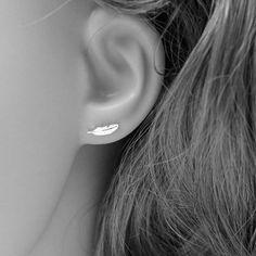 Koreaanse Stijl Oorbellen Leuke Mini Kleine Veer Brincos Voor Vrouwen Verjaardag