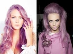 Lilac hair inspired by the color of the year - Radiant Orchid