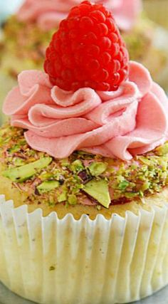 Raspberry Rose Water Cupcakes