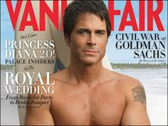 Rob Lowe on the cover of Vanity Fair