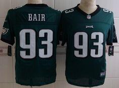Nike Philadelphia Eagles #93 Brandon Bair Dark Green Elite Jersey