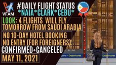 Philippines covid 19 update President Duterte not willing to compromise amid appeal to ease OFW quarantine protocols Philippines Quarantine News No More Hotel Quarantine Proposed Optional Or Selective Swab Test Proposed Shortened Quarantine Period If we want to skip swab test proposed Philippines Travel Update Philippines Latest News Today Flights to and from Cebu Mactan [...] The post 🛑MARAMING MAKAKAUWI   MAY 11, 2021 CONFIRMED+CANCELED FLIGHTS   PH INBOUND AND OUTBOUND FLIGHTS appeared…