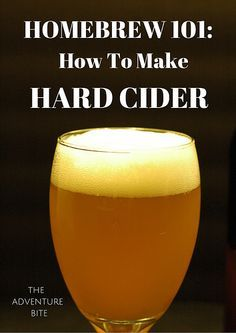How To Make Hard Apple Cider. Tutorial and recipe for how to brew your first homebrew apple cider! Great homebrewing series!