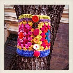 idea from Yarn-bombing on facebook