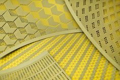 Above are laser cut perforated paper take-off light lampshades which allow you to make any pattern or opacity you want from fifti-f. Web Design, Tool Design, Design Process, Grid Design, Lamp Design, Design Model, Fabric Textures, Textures Patterns, Surface Pattern